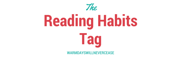 Reading Habits Tag