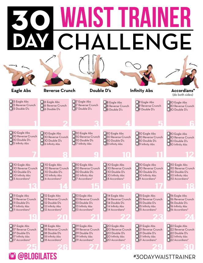 30 day waist challenge