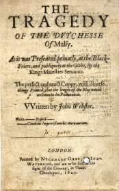 The Duchess of Malfi 1623